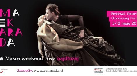5-12.05. Maskarada - Festiwal Teatrów Ożywionej Formy w Rzeszowie