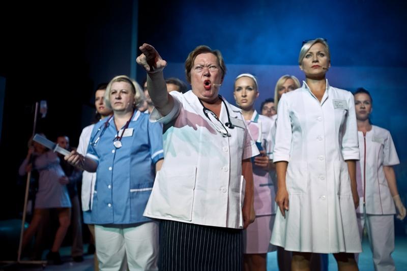 15.09.2011 Chorzow Teatr Rozrywki spektakl pt. Poloznice szpitala Sw. Zofii rez. Monika Strzepka foto Bartlomiej Sowa