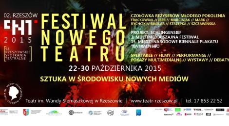 54. Rzeszowskie Spotkania Teatralne (Festiwal Nowego Teatru, 22-30.10.2015)