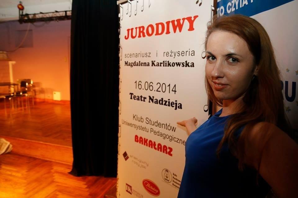 Magdalena Karlikowska po premierze spektaklu ''Jurodiwy''
